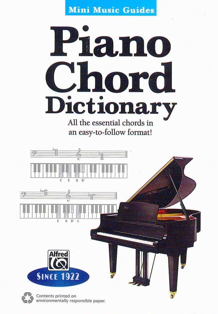 Mini Music Guides  Piano Chord Dictionary