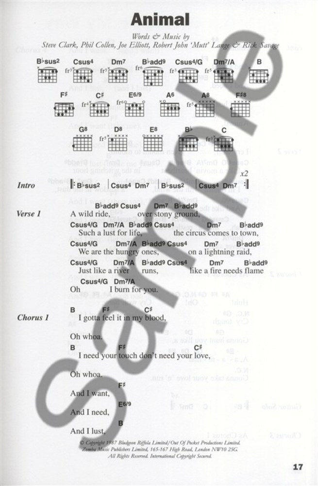 The Big Guitar Chord Songbook Classic Rock