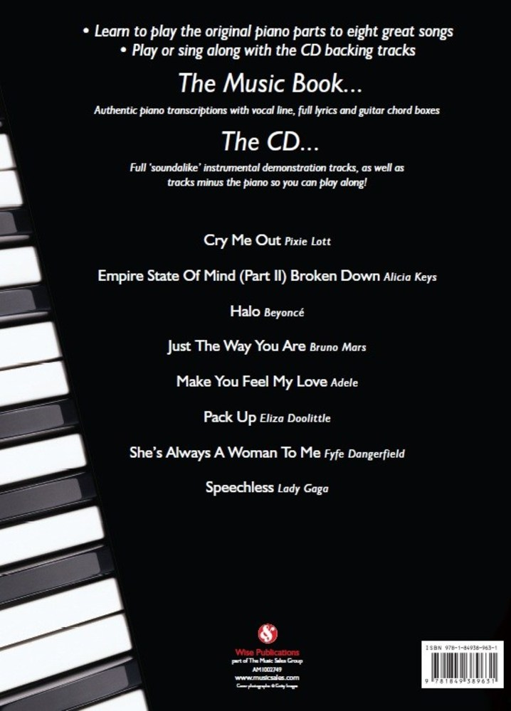 Sheet Music Gifts Printed Music Groups And Artists Piano