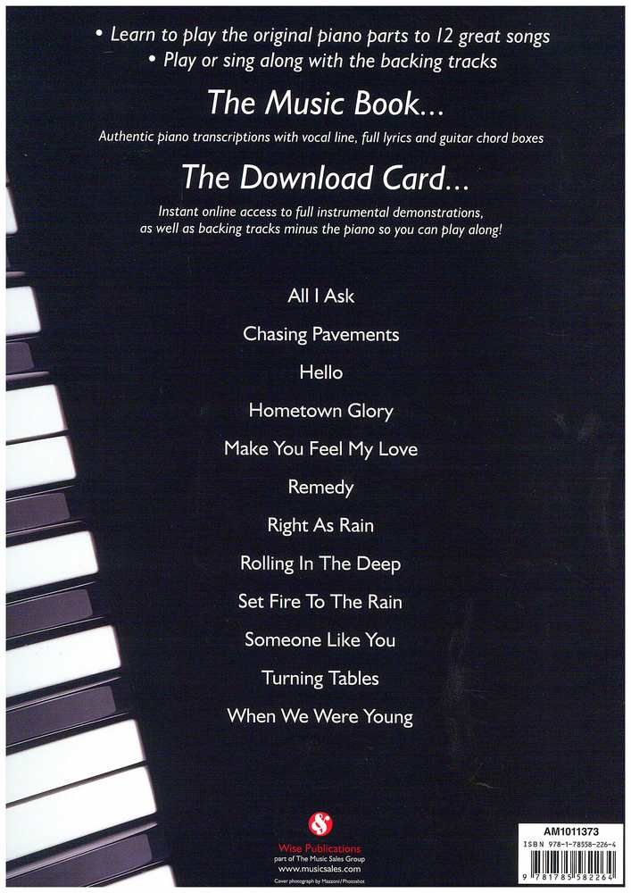 Play Piano With Adele Bookaudio Download