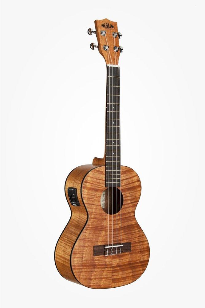 Folk Instruments Gt Kala Ka Teme Satin Mahogany Tenor Electro Ukulele