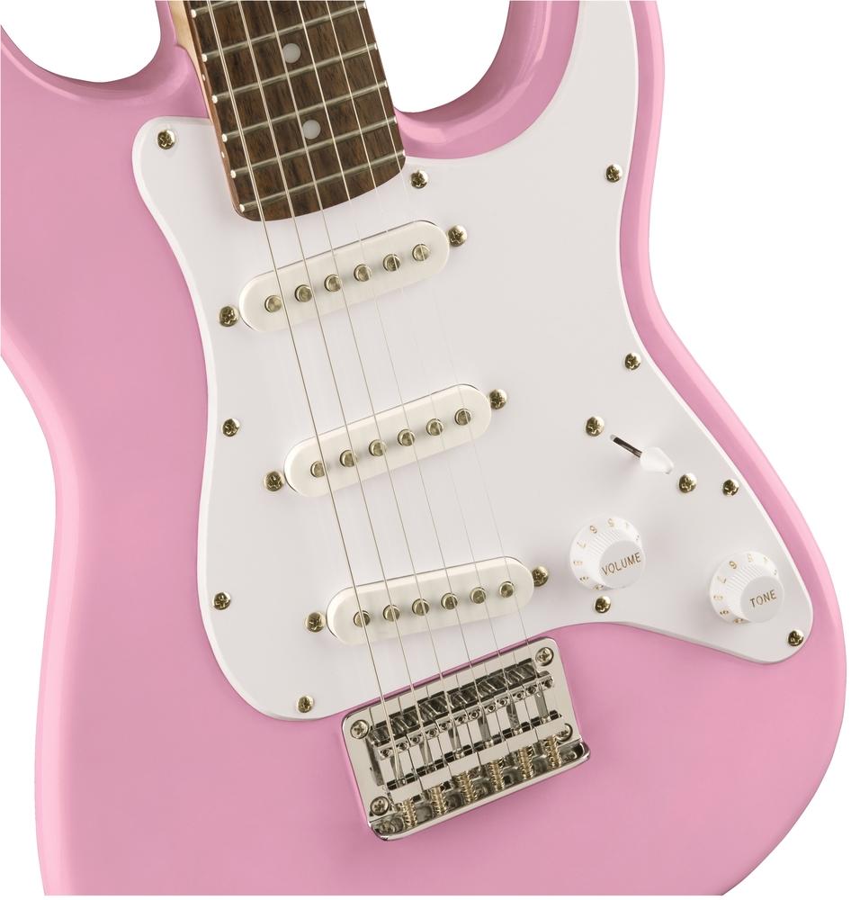 guitars electric guitars fender squier mini strat v2 pink laurel electric guitar. Black Bedroom Furniture Sets. Home Design Ideas