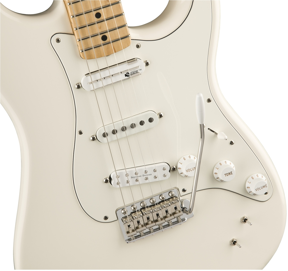guitars electric guitars fender eob sustainer stratocaster olympic white maple neck. Black Bedroom Furniture Sets. Home Design Ideas