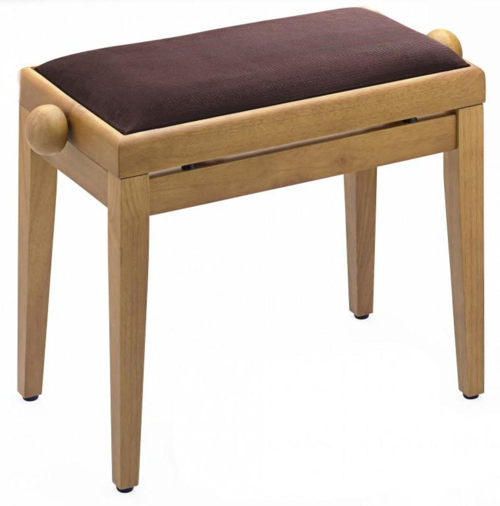 Stagg Pb40 Adjustable Piano Stool Matt Oak With Brown Top
