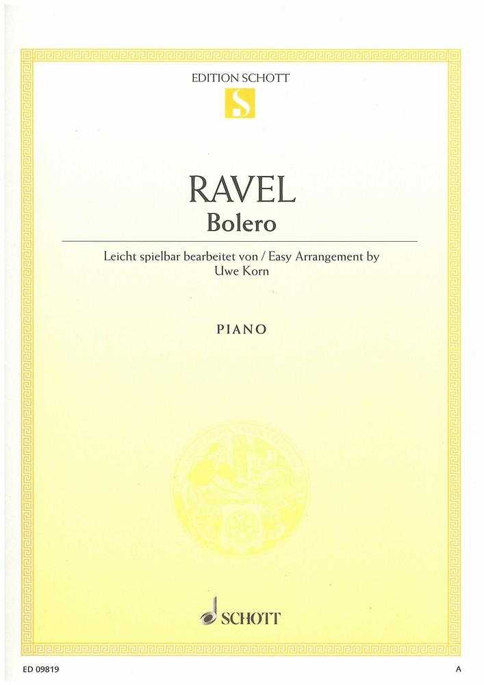 Sheet Music Gifts Printed Music Ravel Bolero Piano