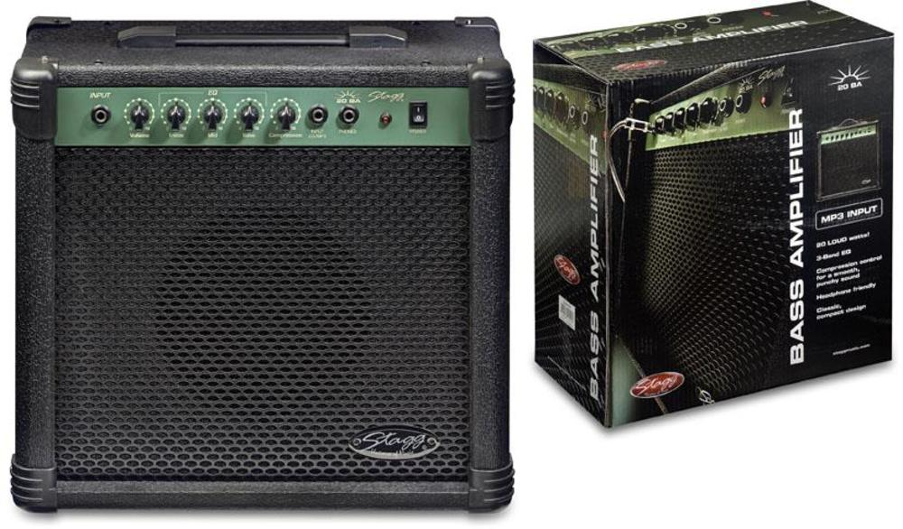 stagg 20ba 20 watt bass guitar amplifier picclick uk. Black Bedroom Furniture Sets. Home Design Ideas