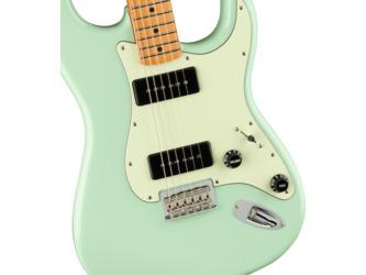 Fender Noventa Stratocaster Surf Green Electric Guitar & Case