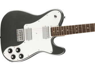 Fender Squier Affinity Series Telecaster Deluxe Charcoal Frost Metallic Electric Guitar