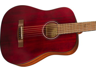 Fender Alternative FA-15 Red 3/4 Scale Acoustic Guitar & Case