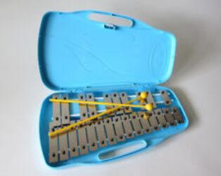 Angel 25 Note AX25K Glockenspiel with Case Silver Keys