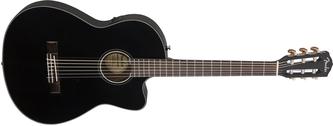 Fender Classic Design CN-140SCE Black Thinline Electro Nylon Guitar & Case