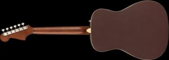 Fender California Malibu Player Burgundy Satin Short-Scale Electro Acoustic Guitar