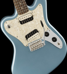 Fender Squier Paranormal Super-Sonic Ice Blue Metallic Electric Guitar