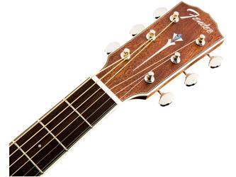 Fender Paramount PM-2 NE Parlour Acoustic Guitar, All Mahogany, Ovangkol & Case