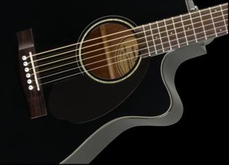 Fender Classic Design CC-60SCE Concert Black Electro Acoustic Guitar