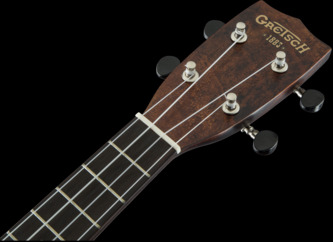 Gretsch G9100-L Soprano Long-Neck Ukulele with Gig Bag, Vintage Mahogany Stain