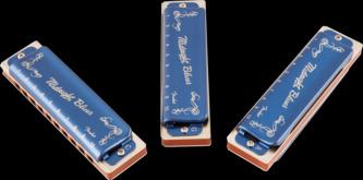 Fender Midnight Blues Harmonica, Set Of 3 With Case, C, G & A Keys