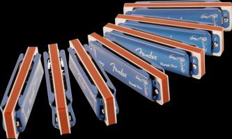 Fender Midnight Blues Harmonica, Set Of 7 With Case, C, D, E, F, G, A & B Flat Keys