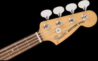 Fender Vintera '60s Mustang Bass Fiesta Red Electric Bass Guitar & Case