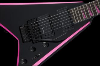 Jackson X Series Rhoads RRX24 Black / Neon Pink Electric Guitar
