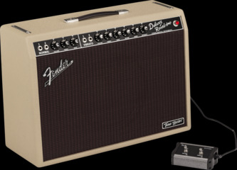 Fender Tone Master Deluxe Reverb Blonde 1x12 Electric Guitar Amplifier Combo