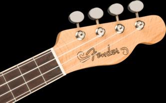 Fender Fullerton Tele Uke Electro Ukulele, Butterscotch Blonde