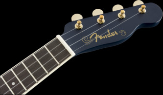 Fender Grace VanderWaal Moonlight Soprano Ukulele, Navy, Walnut
