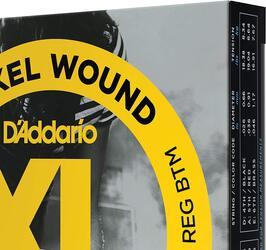 D'Addario EXL125-3D Nickel Wound Electric Guitar Strings, Super Light / Regular, 9-42 - 3 Sets