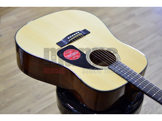 Fender CD-60 Dreadnought V3 With Hard Case, Natural, Walnut