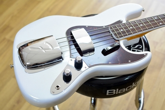 Fender 60th Anniversary Jazz Bass, Arctic Pearl, Rosewood & Case