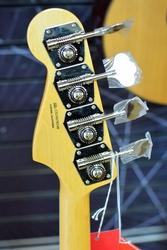 Fender Rarities Flame Ash Top Jazz Bass, Plasma Red Burst, Ebony - Incl Deluxe Hard Case