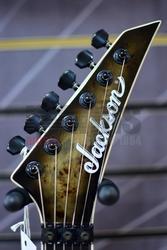 Jackson Wildcard Series Soloist SL2P, Poplar Burl Top, Transparent Black Burst, Ebony B Stock
