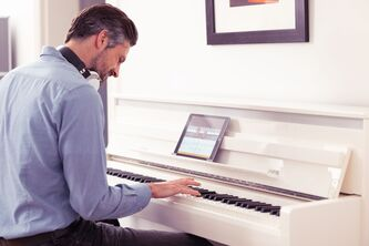 Yamaha CLP785 Digital Piano in Polished White - 5 Year Warranty  (Subject to registering with Yamaha)
