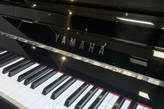 Yamaha P116 Black Polyester SH-Type Silent Piano with Chrome Fittings