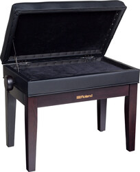 Roland RPB400 Satin Rosewood Adjustable Piano Stool with Button Top and Music Storage