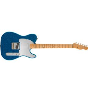 Fender Artist J Mascis Telecaster Bottle Rocket Blue Flake Electric Guitar & Case