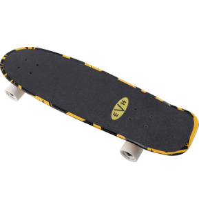 EVH Aluminati Black With Yellow Stripes Skateboard