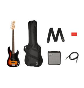 Fender Squier Affinity Series Precision Bass PJ 3-Colour Sunburst Electric Bass Guitar Pack