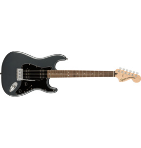 Fender Squier Affinity Series Stratocaster HH Charcoal Frost Metallic Electric Guitar