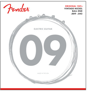 Fender 150L Original Pure Nickel Wound Electric Guitar Strings, Light Tension, 09-42