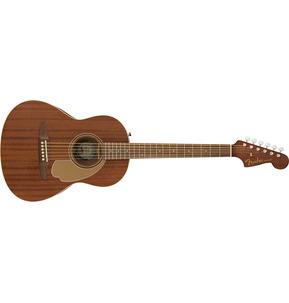 Fender California Sonoran Mini Natural Mahogany Short-Scale Acoustic Guitar & Case