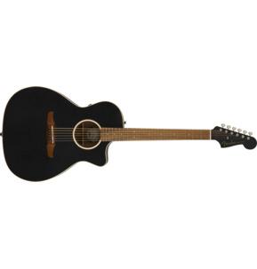 Fender California Newporter Special Matte Black All Solid Electro Acoustic Guitar & Case
