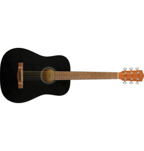 Fender Alternative FA-15 Black 3/4 Scale Acoustic Guitar & Case