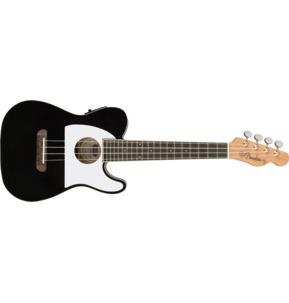Fender Fullerton Tele Uke Electro Ukulele, Black