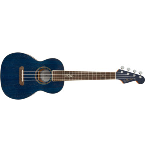 Fender Artist Dhani Harrison Signature Sapphire Blue Tenor Ukulele & Case