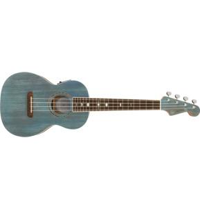 Fender Artist Dhani Harrison Signature Turquoise Tenor Ukulele & Case