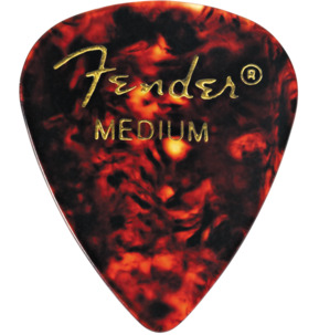 Fender 351 Shape Classic Celluloid Tortoise Shell Medium Guitar Pick - Pack of 12