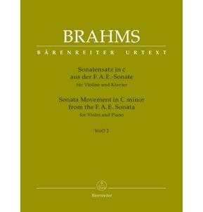 Brahms Sonata Movement in C Minor for Violin & Piano