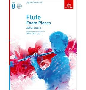 Flute Exam Pieces Graded Repertoire Score/Part/CD ABRSM 2014-2017 Grade 8 (CD ONLY)