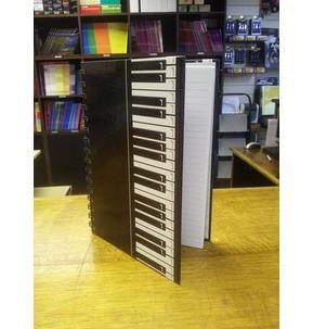 Piano Keys Design Notebook (Spiralbound A5)